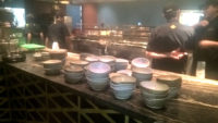 Jeff Rogers bowls at Coya Restaurant Miami
